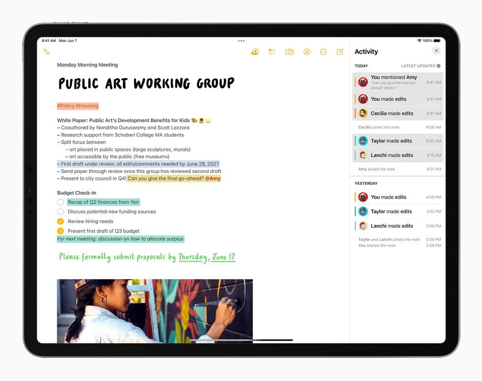 [WWDC 2021]   iPadOS 15 : écran daccueil repensé avec widgets intégrés, multitâches plus intuitives et autres