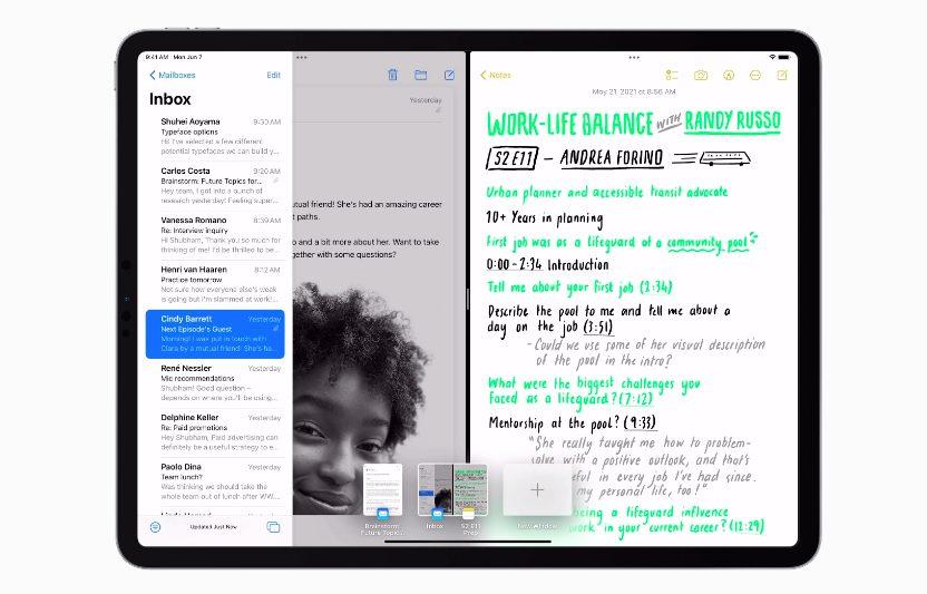 Apple iPadOS 15 Multitache [WWDC 2021]   iPadOS 15 : écran daccueil repensé avec widgets intégrés, multitâches plus intuitives et autres