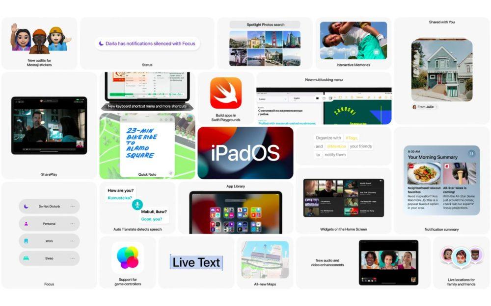 Apple iPadOS 15 Nouveautes WWDC 2021 [WWDC 2021]   iPadOS 15 : écran daccueil repensé avec widgets intégrés, multitâches plus intuitives et autres