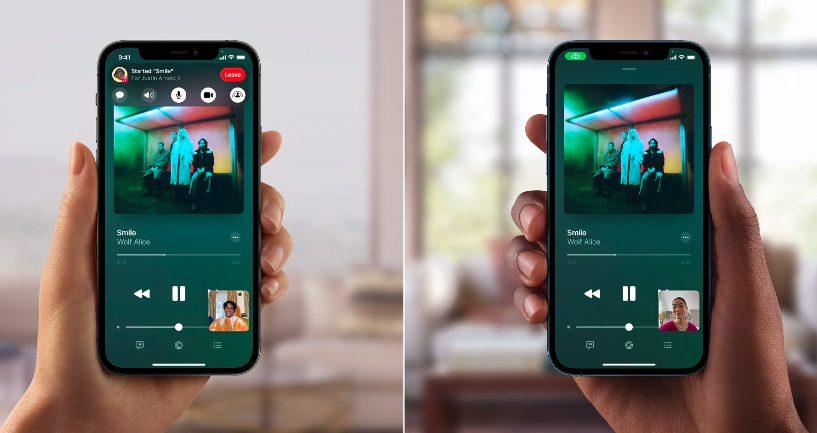 Apple iPhone 12 Pro iOS 15 FaceTime SharePlay [WWDC 2021]   iOS 15 : Live Text, nouveautés dans Plans, Météo, Wallet, partage de médias sur FaceTime...