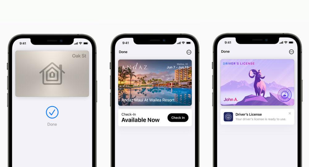Apple iPhone 12 Pro iOS 15 Wallet Cles de Maison [WWDC 2021]   iOS 15 : Live Text, nouveautés dans Plans, Météo, Wallet, partage de médias sur FaceTime...