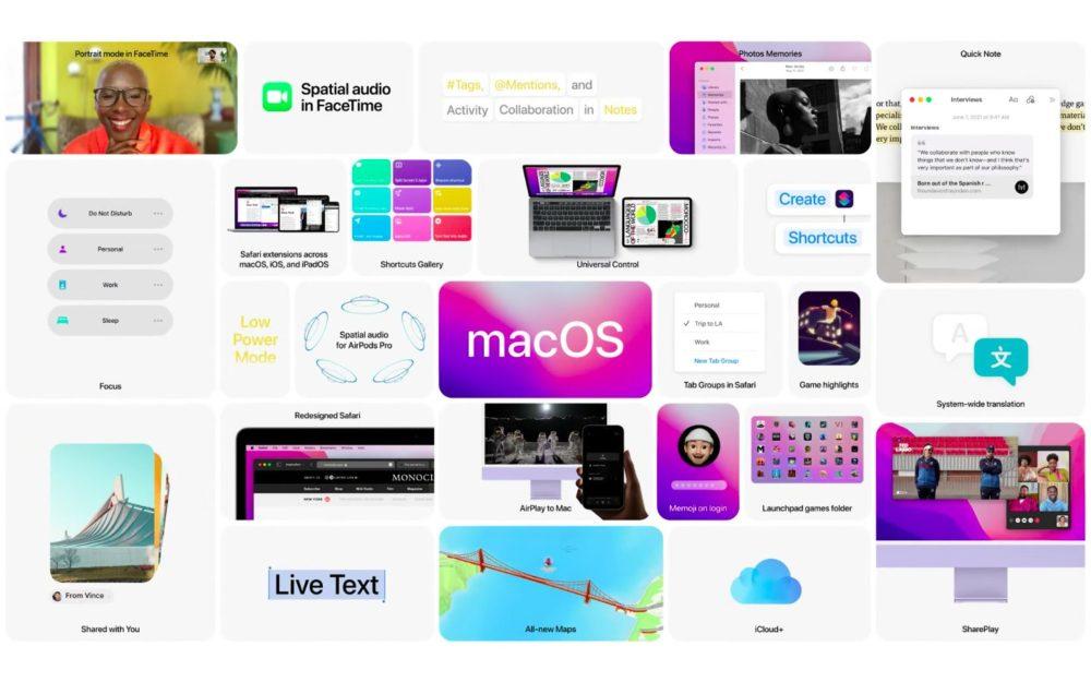 Apple macOS 12 Monterey Nouveautes WWDC 2021 macOS 12 Monterey : Apple rend disponible la bêta 3 publique