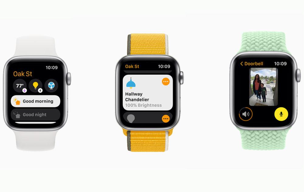 Apple watchOS 8 HomeKit [WWDC 2021]   watchOS 8 : compatibilité AirTag, nouveaux types dexercices, AssistiveTouch, version repensée de lapp Respirer...