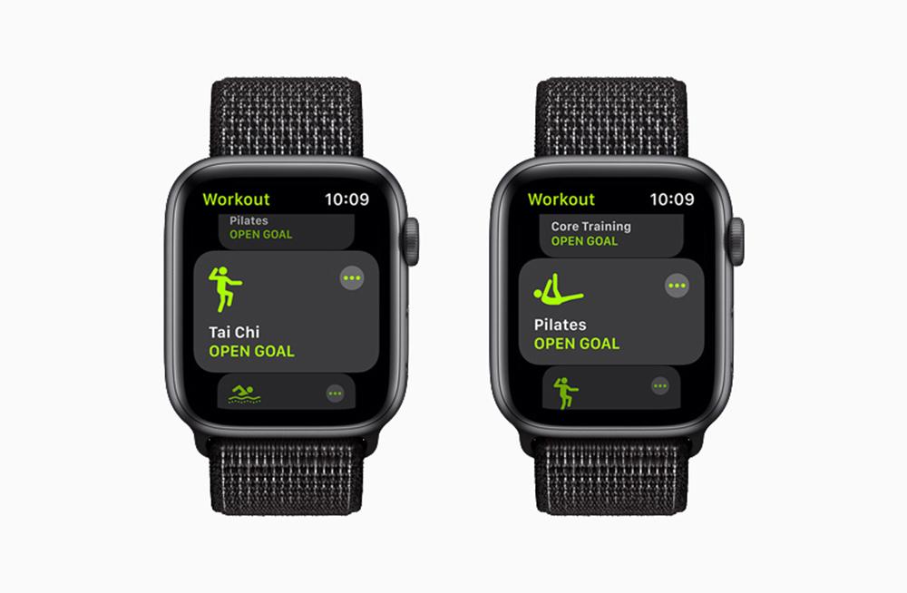 Apple watchOS 8 Nouveaux Exercices [WWDC 2021]   watchOS 8 : compatibilité AirTag, nouveaux types dexercices, AssistiveTouch, version repensée de lapp Respirer...