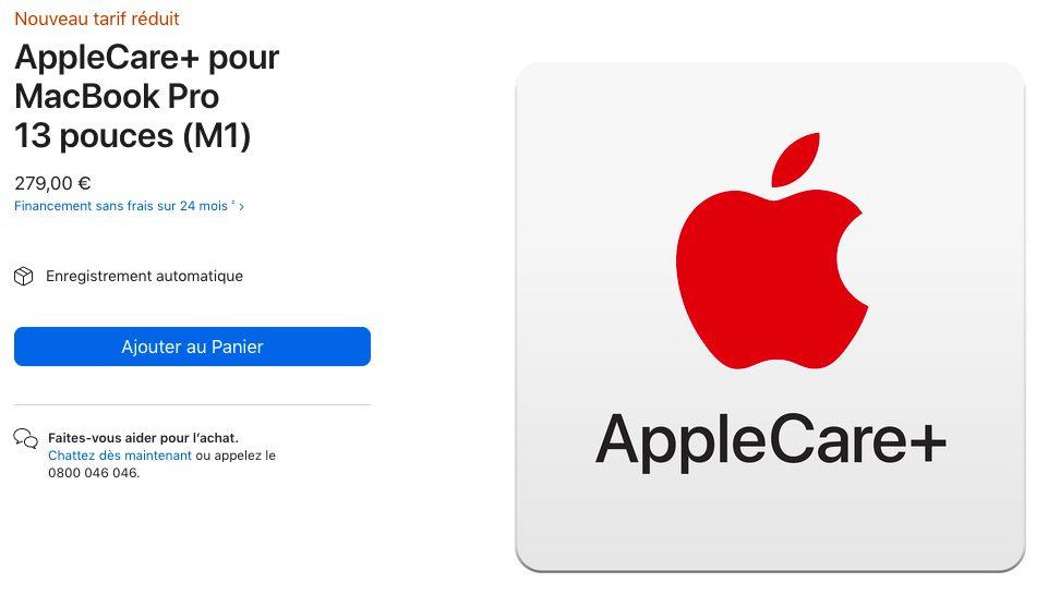 AppleCare Plus Pour MacBook Pro 13 pouces M1 Apple réduit le prix de lAppleCare+ pour les MacBook Air et les MacBook Pro M1