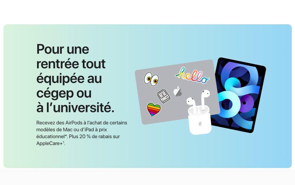 Back To School Apple 2021 Back to School 2021 : vous recevrez gratuitement des AirPods à lachat dun iPad ou Mac