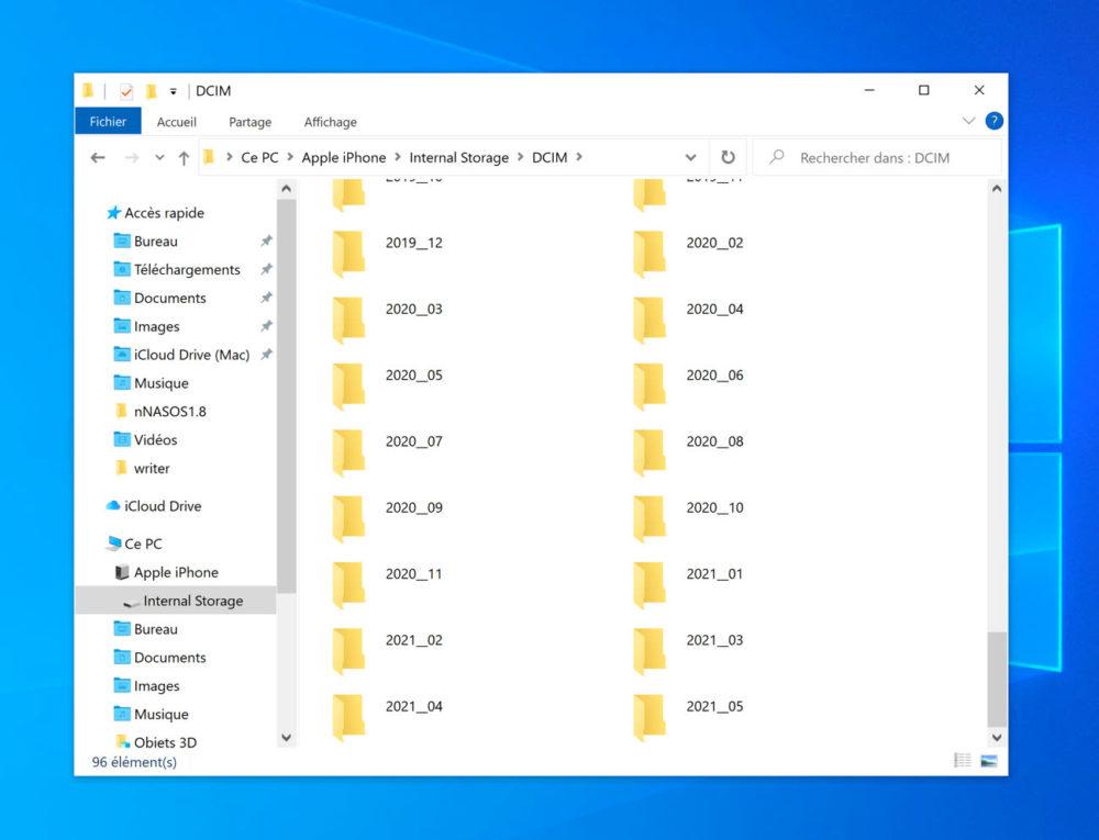Gestion Photos Sous Windows Apres iOS 14.6 Sous Windows, iOS 14.6 permet de retrouver facilement les photo et les vidéos