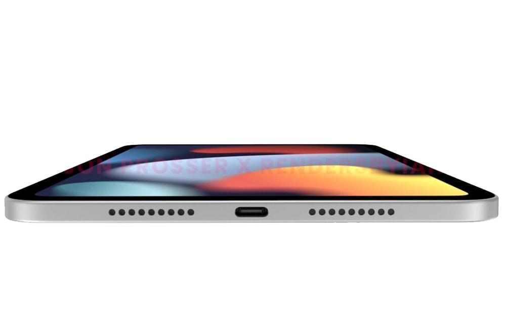 Rendus iPad mini 6 Port USB C iPad mini 6 : nouveau design, bordures plus fines et port USB C dévoilés avec des rendus