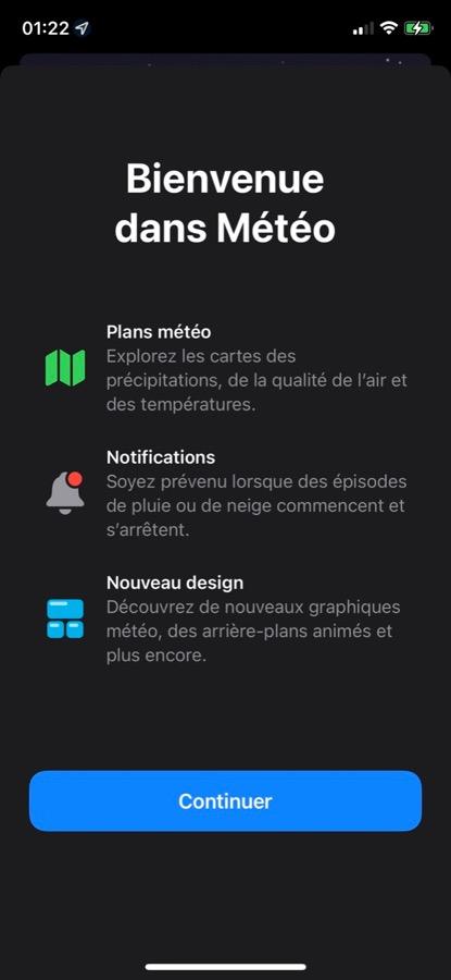 iOS 15 Beta 2 Pop Up Application Meteo Voici la liste des nouveautés retrouvées dans iOS 15 et iPadOS 15 bêta 2
