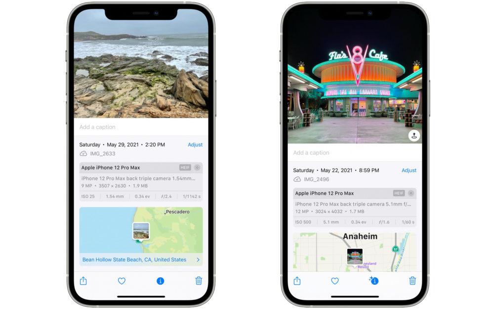 iOS 15 Donnees EXIF Photos et Videos iOS 15 : il est désormais possible de voir (et de modifier) les données EXIF des photos et vidéos