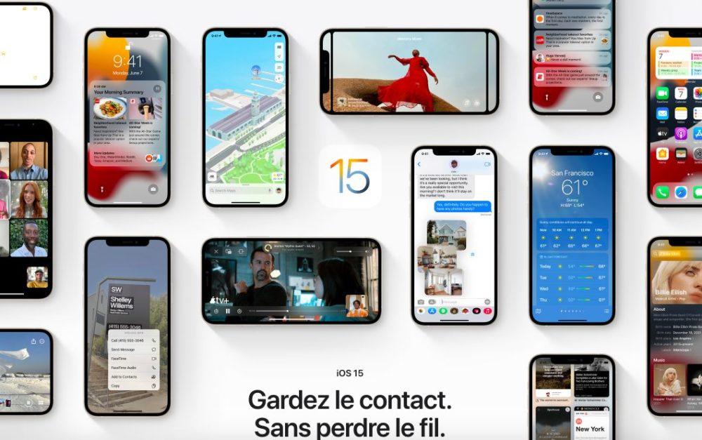 iOS 15 Presentation Francais iOS 15, macOS Monterey et watchOS 8 : les nouveautés sont disponibles en français