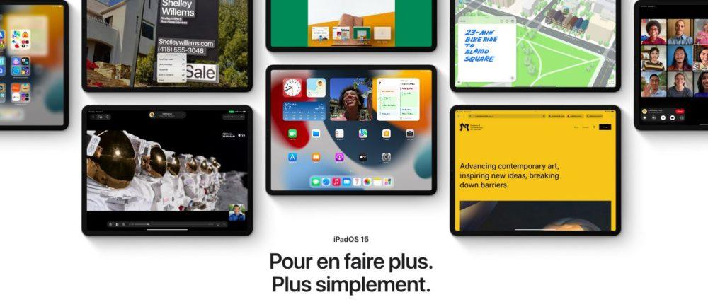 iPadOS 15 Presentation Francais iOS 15, macOS Monterey et watchOS 8 : les nouveautés sont disponibles en français
