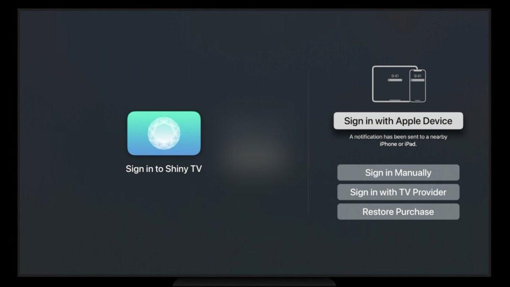 tvOS 15 : la connexion aux apps avec Face ID ou Touch ID depuis un iPhone sera possible