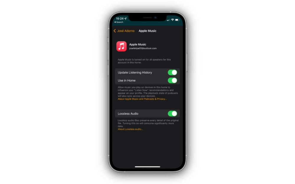 Apple Music Lossless App Maison La bêta 3 du HomePod Software 15 marque larrivée du support du Lossless sur lenceinte