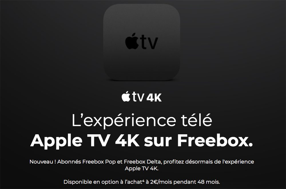 Apple TV 4K Freebox Free offre lApple TV 4K aux abonnés Freebox Pop et Freebox Delta