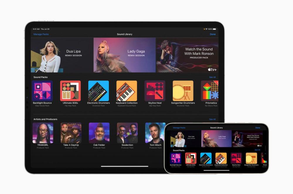 Apple met à jour GarageBand et ajoute des packs de sons dartistes comme Dua Lipa et Lady Gaga
