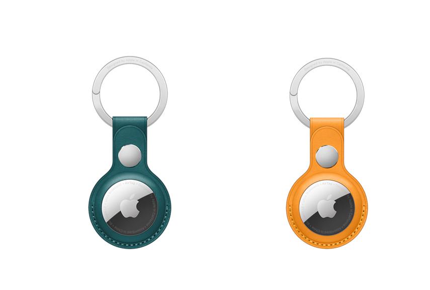 Nouvelles Couleurs Porte Cles en Cuir pour AirTag Apple met à la vente de nouveaux coloris pour les accessoires des AirTag
