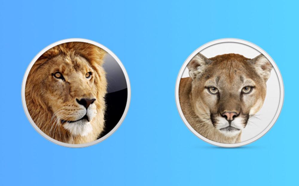 OS X Lion Mountain Lion OS X Lion et Mountain Lion sont désormais proposés gratuitement par Apple