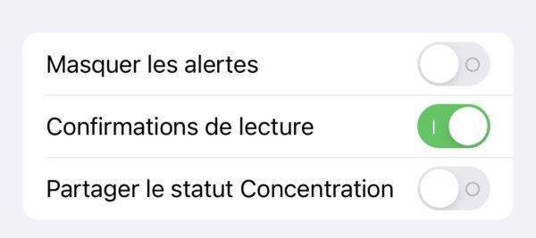 Partager Statut Concentration a Contact Specifique iOS 15 Beta 4 iOS 15 et iPadOS 15 bêta 4 : la liste des nouveautés retrouvées