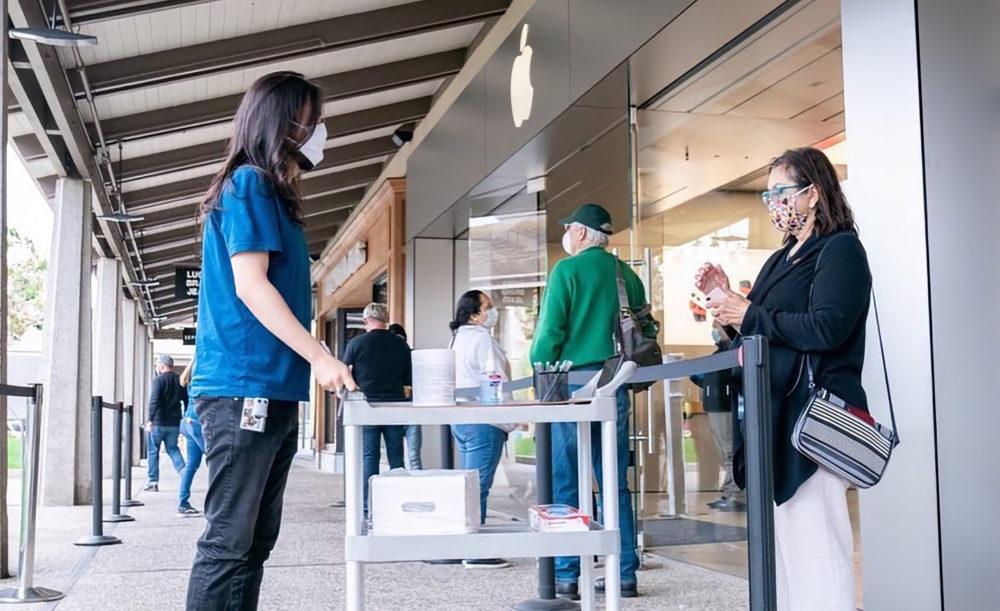 Apple Store Masque Coronavirus Apple ferme lApple Store de Caroline du Sud parce que 20 employés ont été exposés au Covid 19