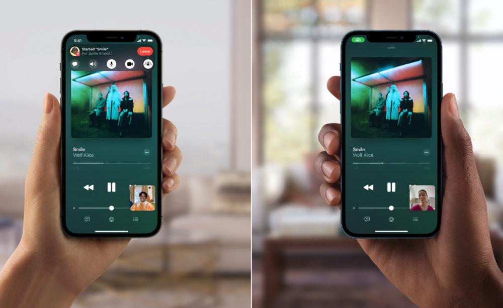 Apple iOS 15 SharePlay Music Apple annonce lindisponibilité de SharePlay avec le lancement de la version finale diOS 15