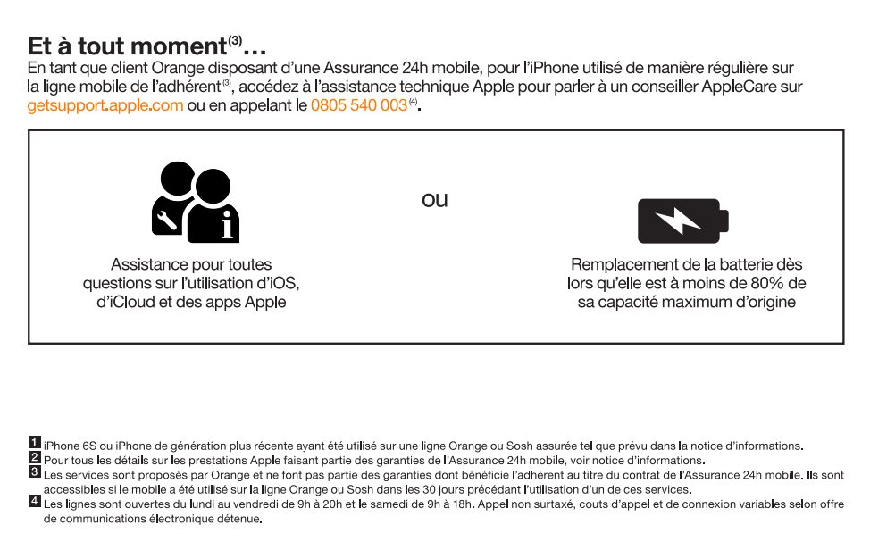 AppleCare Services Orange 1 LAppleCare Services pour les iPhone arrive chez lopérateur Orange