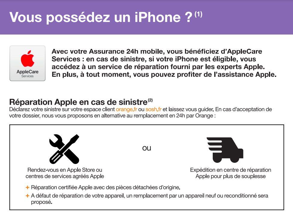 AppleCare Services Orange LAppleCare Services pour les iPhone arrive chez lopérateur Orange