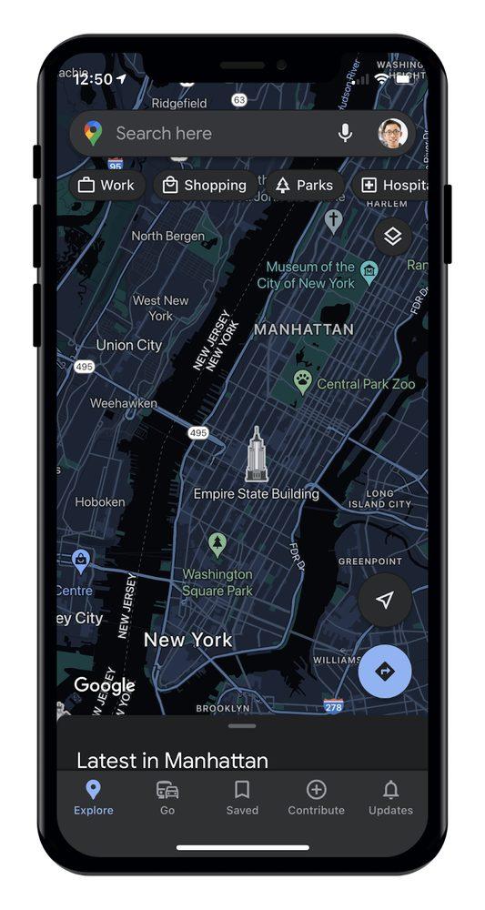Google Maps Mode Sombre Google Maps proposera le mode sombre prochainement sur iPhone et iPad