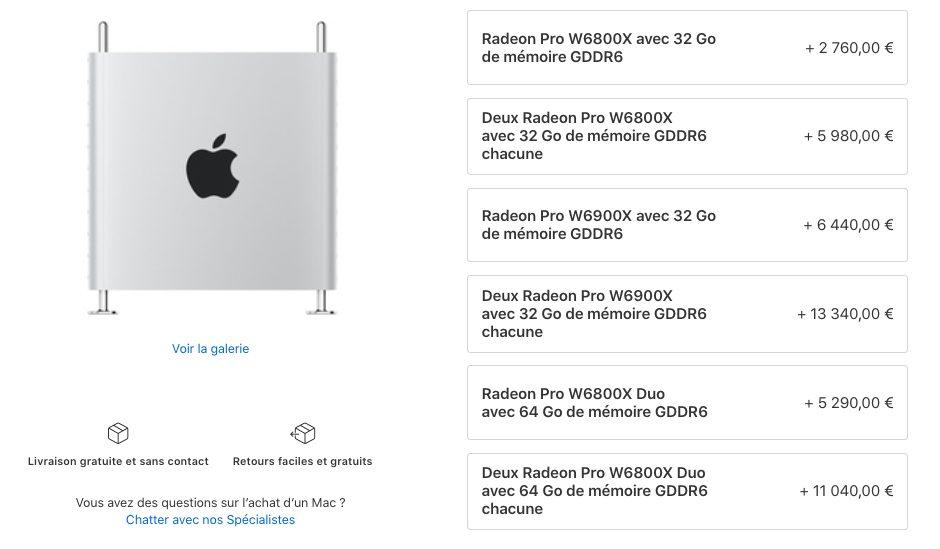 Mac Pro Cartes Graphiques Prix Apple met à la vente de nouvelles cartes graphiques pour le Mac Pro