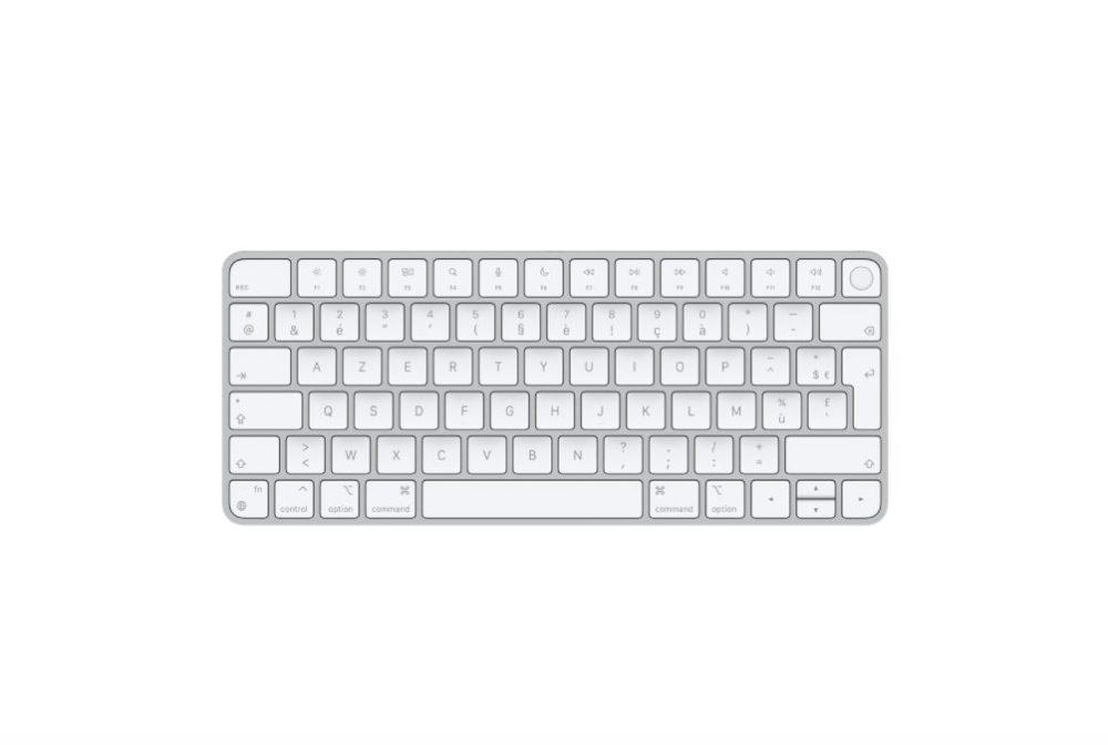 Magic Keyboard avec Touch ID pour les Mac avec puce Apple Le Magic Keyboard avec Touch ID est proposé en achat séparé par Apple