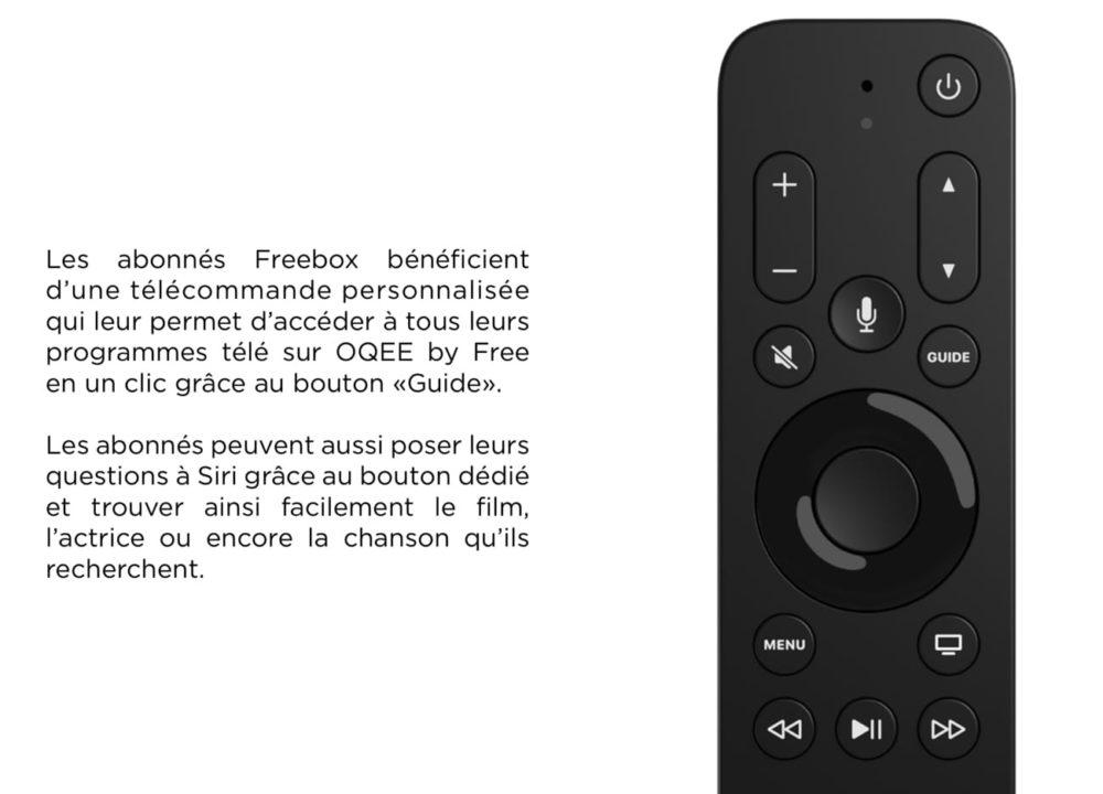 Telecommande Free Pour Apple TV 4K Free rend disponible à la vente sa télécommande pour lApple TV 4K