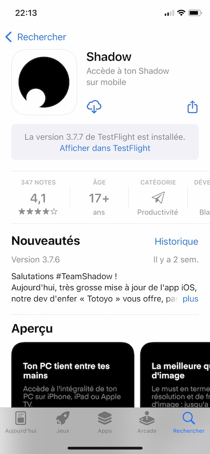 iOS 15 App Store App Test Flight iOS 15 et iPadOS 15 bêta 5 : voici la liste des nouveautés retrouvées