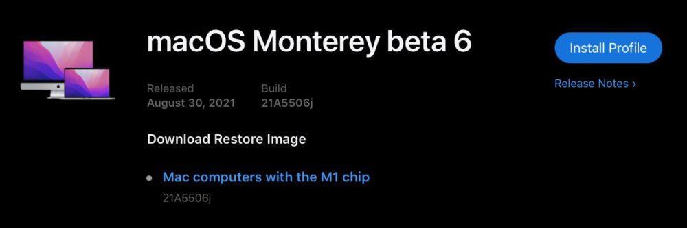 macOS 12 Monterey Beta 6 Developpeurs macOS Monterey : Apple publie la bêta 6 développeurs