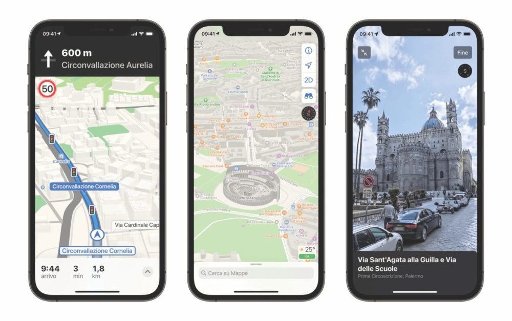 Apple Plans Italie Les nouvelles cartes dApple Plans sont désormais disponibles en Italie