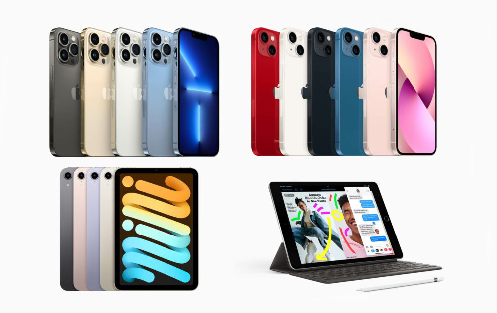 Apple Produits 2021 iPhone 13 iPad mini 6 iPad 9 Apple propose à lachat les iPhone 13, liPad mini 6 et liPad 9
