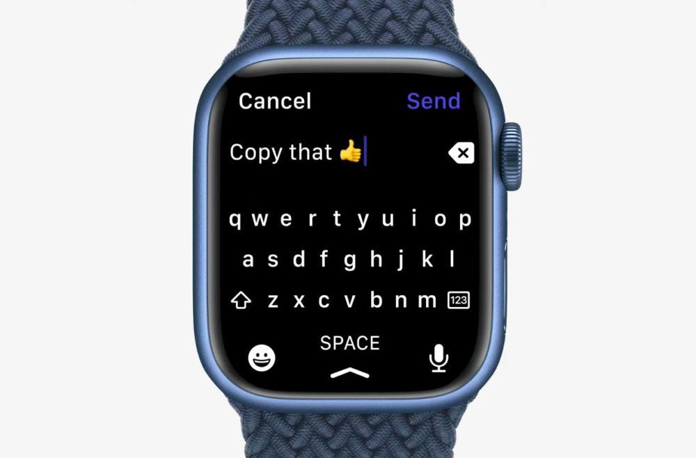 Apple Watch Series 7 Clavier LApple Watch Series 7 est là : design inchangé, écran plus grand, clavier, nouvelles couleurs, recharge rapide...