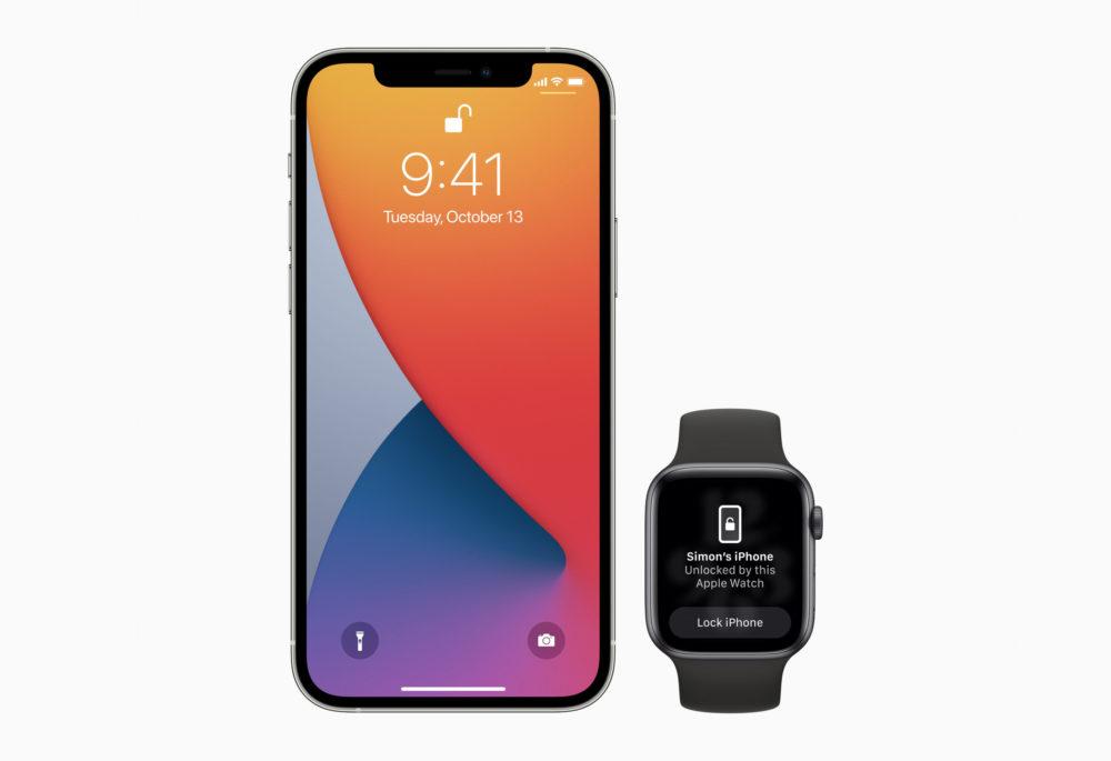 Apple iPhone Deverrouillage Avec Apple Watch Apple va corriger le bug qui empêche à lApple Watch de déverrouiller liPhone 13