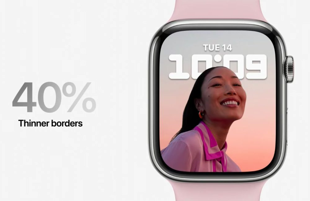 Bordures Ecran Apple Watch Series 7 LApple Watch Series 7 est là : design inchangé, écran plus grand, clavier, nouvelles couleurs, recharge rapide...