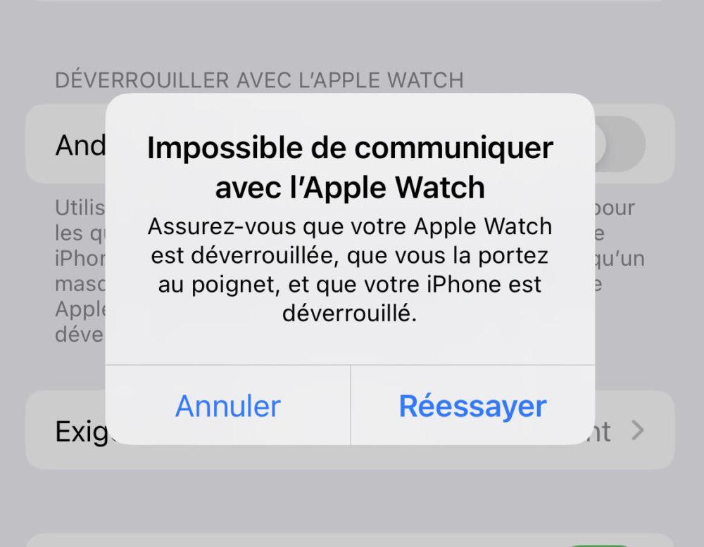Bug iPhone 13 Peut Pas Etre Deverouille Avec Apple Watch 1 Apple va corriger le bug qui empêche à lApple Watch de déverrouiller liPhone 13