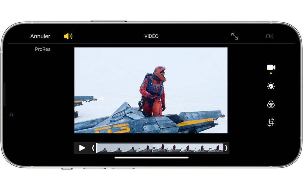ProRes iPhone Apple 13 Pro Les iPhone 13 Pro avec 128 Go ne peuvent pas enregistrer des vidéos en ProRes à 4K