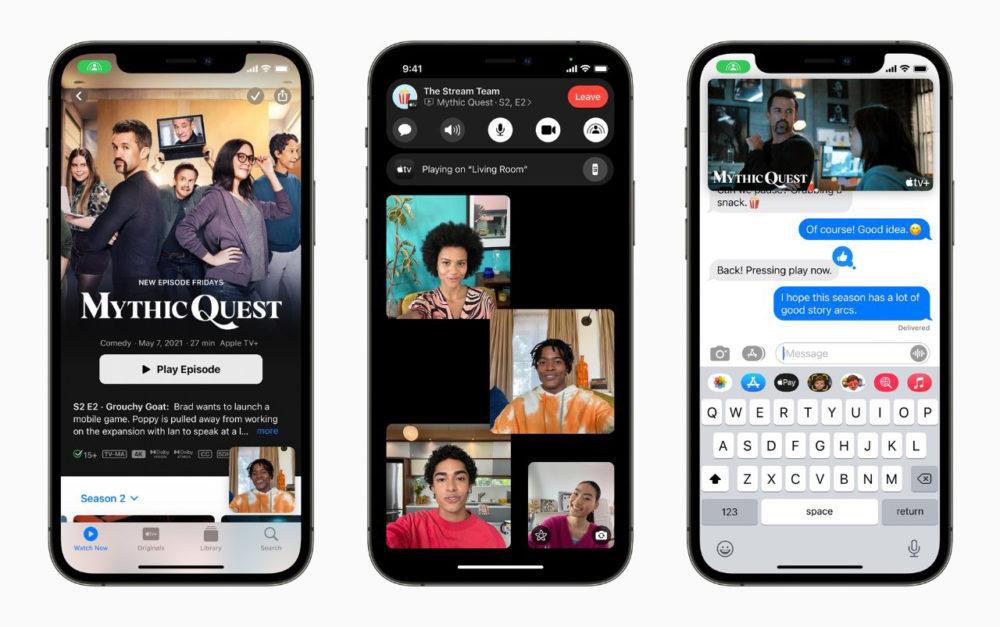 SharePlay iPhone 12 iOS 15.1 bêta 1 active de nouveau la fonctionnalité SharePlay