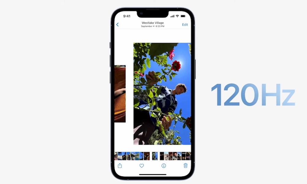 iPhone 13 Pro Max 120Hz ProMotion Samsung ridiculise Apple et lécran 120 Hz de liPhone 13 Pro et Pro Max
