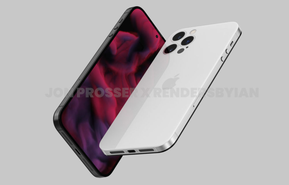 iPhone 14 Rendus iPhone 14 : design de liPhone 4, pas dappareil photo qui dépasse, pas dencoche et trou dans lécran pour la caméra...