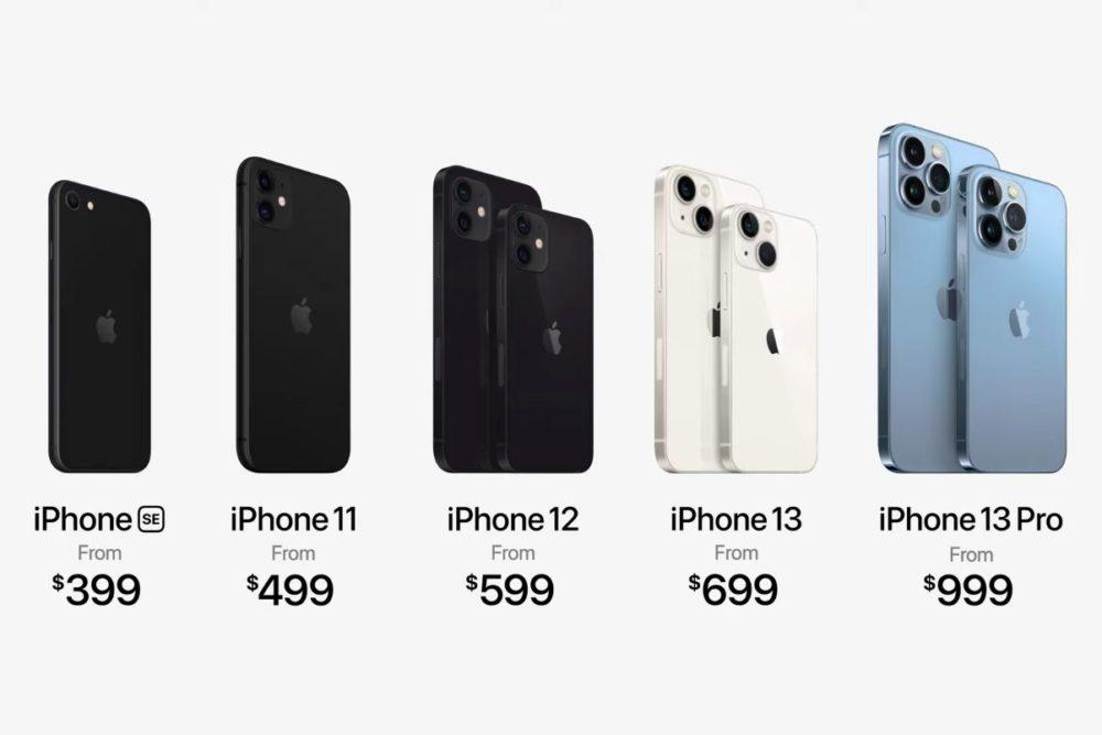 iPhone SE 2020 iPhone 11 iPhone 12 iPhone 13 iPhone 13 Pro Prix Keynote 14 Septembre 2021 Les iPhone 13 sont là, un dernier applaudissement pour les iPhone XR, 12 Pro et 12 Pro Max
