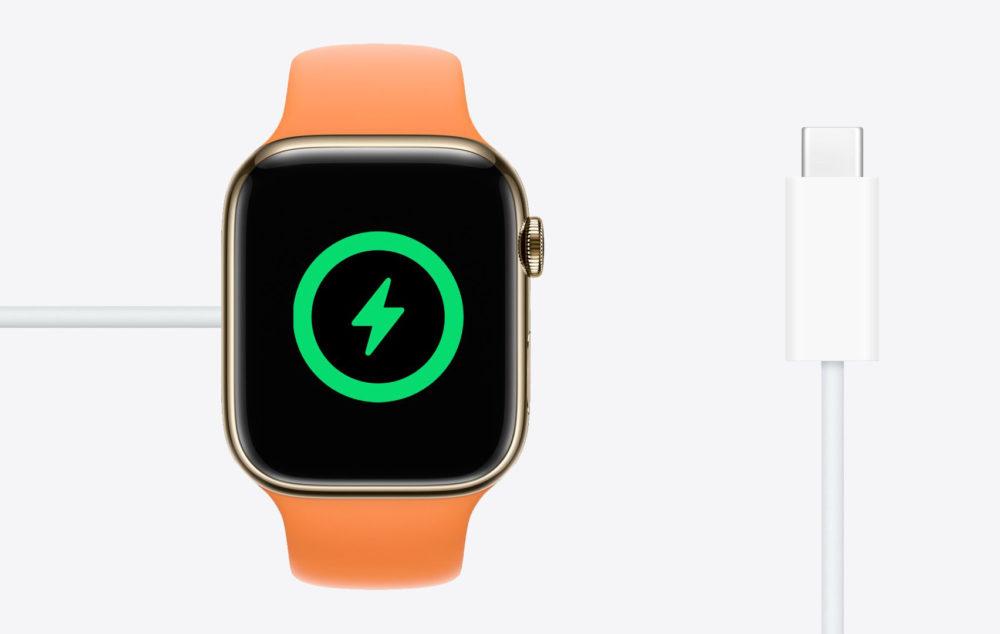 Apple Watch USB C Charge Rapide LApple Watch SE est désormais vendue avec un câble USB C dans la boîte