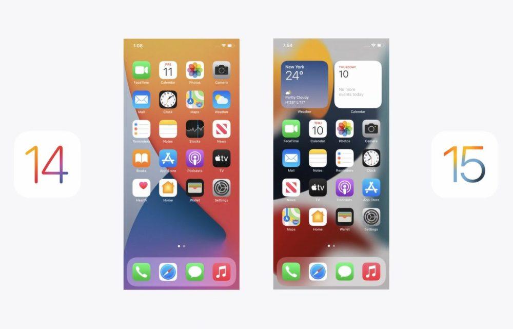 iOS 14 et iOS 15 iOS 15 attirerait deux fois moins dutilisateurs quiOS 14 à sa sortie il y a un an